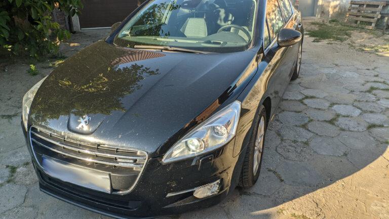 Peugeot 508 sedan zabezpieczenie antykradzieżowe