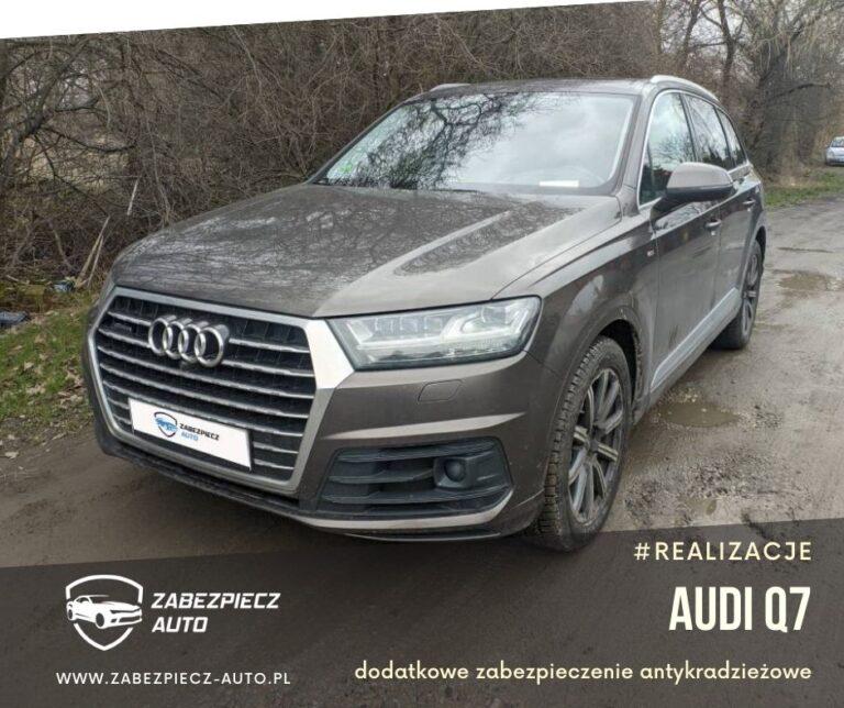 Audi q7 - dodatkowe zabezpieczenie antykradzieżowe