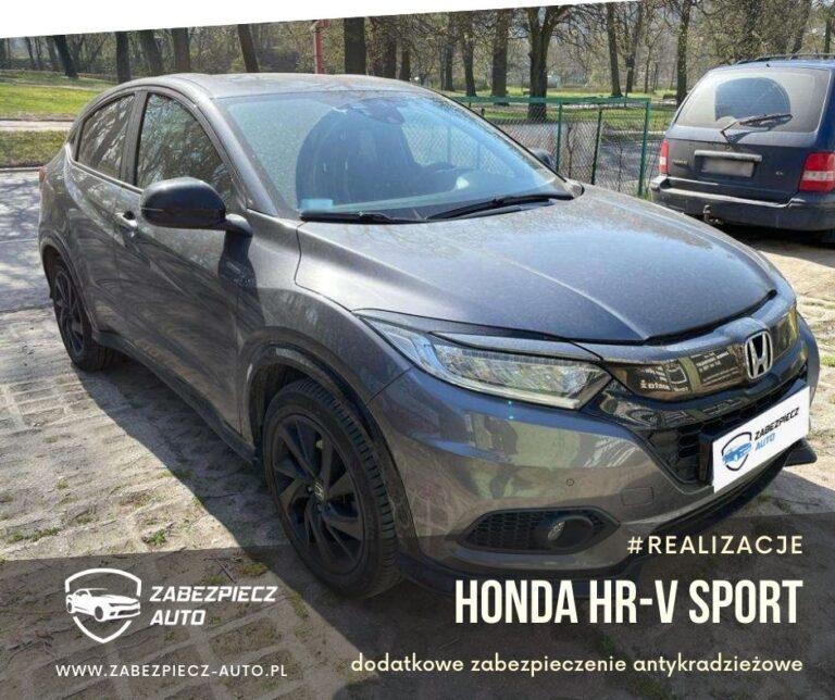 Honda HR-V Sport - dodatkowe zabezpieczenie antykradzieżowe